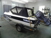 Катер 4хтактный,  мотор Yamaha 60 л/с,  прицеп,  эхолот,  помпы,  рулевое у