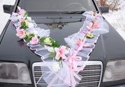 украшение свадебных машин и свадебного зала