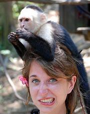 Рождество капуцин обезьян