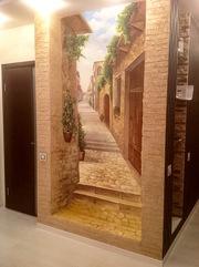 3д Роспись стен в Волгограде. Портрет по фото,  декоративная штукатурка